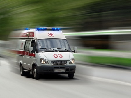 0 00Ambulance car